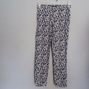 H&M pull up pattern anckle pants size 8